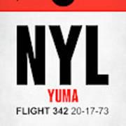 Nyl Yuma Luggage Tag I Art Print