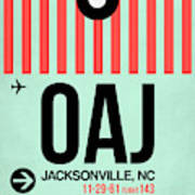Oaj Jacksonville Luggage Tag I Art Print