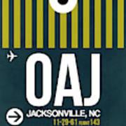 Oaj Oaj Jacksonville Luggage Tag I Luggage Tag I Art Print