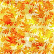 Oak Leaf Pattern Art Print