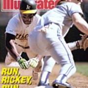 Oakland Athletics Rickey Henderson, 1989 Al Championship Sports Illustrated Cover Art Print
