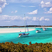 Ocean View From Warderick Cay In Exumas Art Print