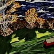 October Moon Shadow Art Print