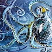 Octopus Of Nine Brains Art Print