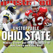 Ohio State University Maurice Clarett Sports Illustrated Cover Art Print