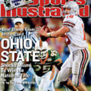 Ohio State University Qb Craig Krenzel, 2003 Tostitos Sports Illustrated Cover Art Print