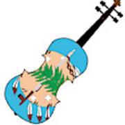 Oklahoma State Fiddle Art Print
