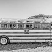 Old Abandoned Vintage Bus Jerome Arizona Art Print