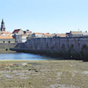 old bridge across river Tweed at Berwick-upon-tweed Art Print