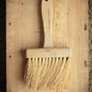 Old Bristle Brush Art Print