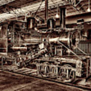 Old Climax Engine No 4 Art Print