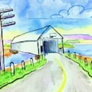 Old Covered Bridge - Avonport N.s. Art Print