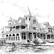 Old Daly Mansion Hamilton Montana Art Print