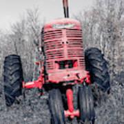 Old Farmall Farm Tractor Color Separation Nh Art Print