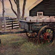 Old Milk Wagon Art Print