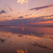 Old Orchard Beach Glorious Sunset Art Print
