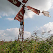 Old Rusty Windmill. Art Print