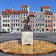 Old Town Market Square Of Warsaw In Poland Art Print