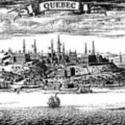 Old View Of Quebec, 1730 C1880 Art Print