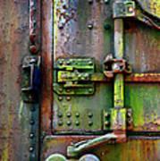 Old Weathered Railroad Boxcar Door Art Print