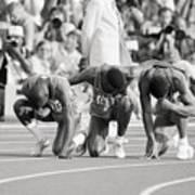 Olympic Medal Winners Pray In Thanks Art Print