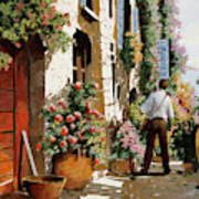 Omino Sulla Bella Strada Art Print