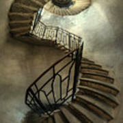 An Old Staircase Art Print