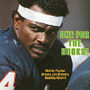 One For The Books Walter Payton Breaks Jim Browns Rushing Sports Illustrated Cover Art Print