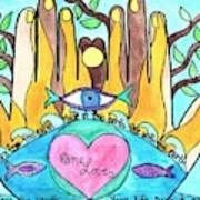 One Love One Earth Art Print