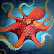 Optical Octopus Art Print