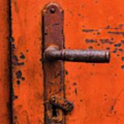 Orange Door Handle Art Print