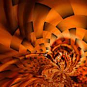 Orange Weave Art Print