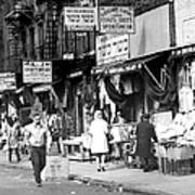 Orchard Street Market On The Lower East Art Print