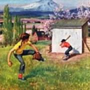 Oregon Baseball Art Print
