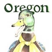 Oregon Duck Art Print