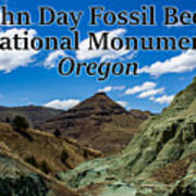 Oregon - John Day Fossil Beds National Monument Blue Basin Art Print