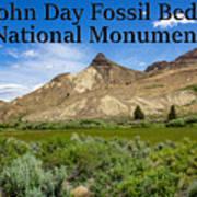 Oregon - John Day Fossil Beds National Monument Sheep Rock 1 Art Print
