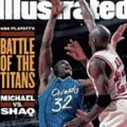 Orlando Magic Shaquille Oneal, 1995 Nba Eastern Conference Sports Illustrated Cover Art Print
