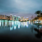 Orlando Night Cityscape Art Print