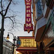 Orpheum Theater Madison, Alice Cooper Headlining Art Print