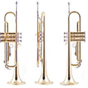Orthographic Views Of A Trumpet Art Print