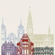 Osijek Skyline Poster  Art Print