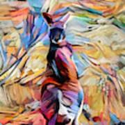 Outback Roo Art Print