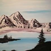 Overlooking The Lake Art Print