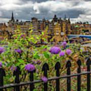 Overlooking The Train Station In Edinburgh Art Print