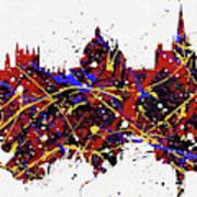 Oxford Colorful Skyline Art Print