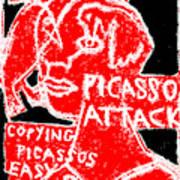 Pablo Picasso Attack 6 Art Print