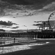 Pacific Park - Black And White Art Print
