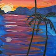 Palm Trees And Water Art Print
