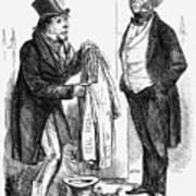 Palmerston Selling Off, 1858 Art Print